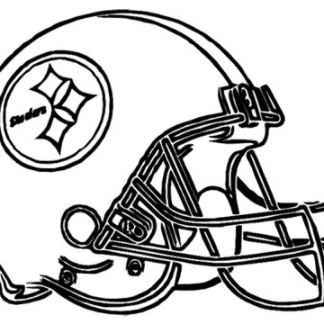 360x360 Steelers Logo Clipart Stellers Drawing Coloring Sheets