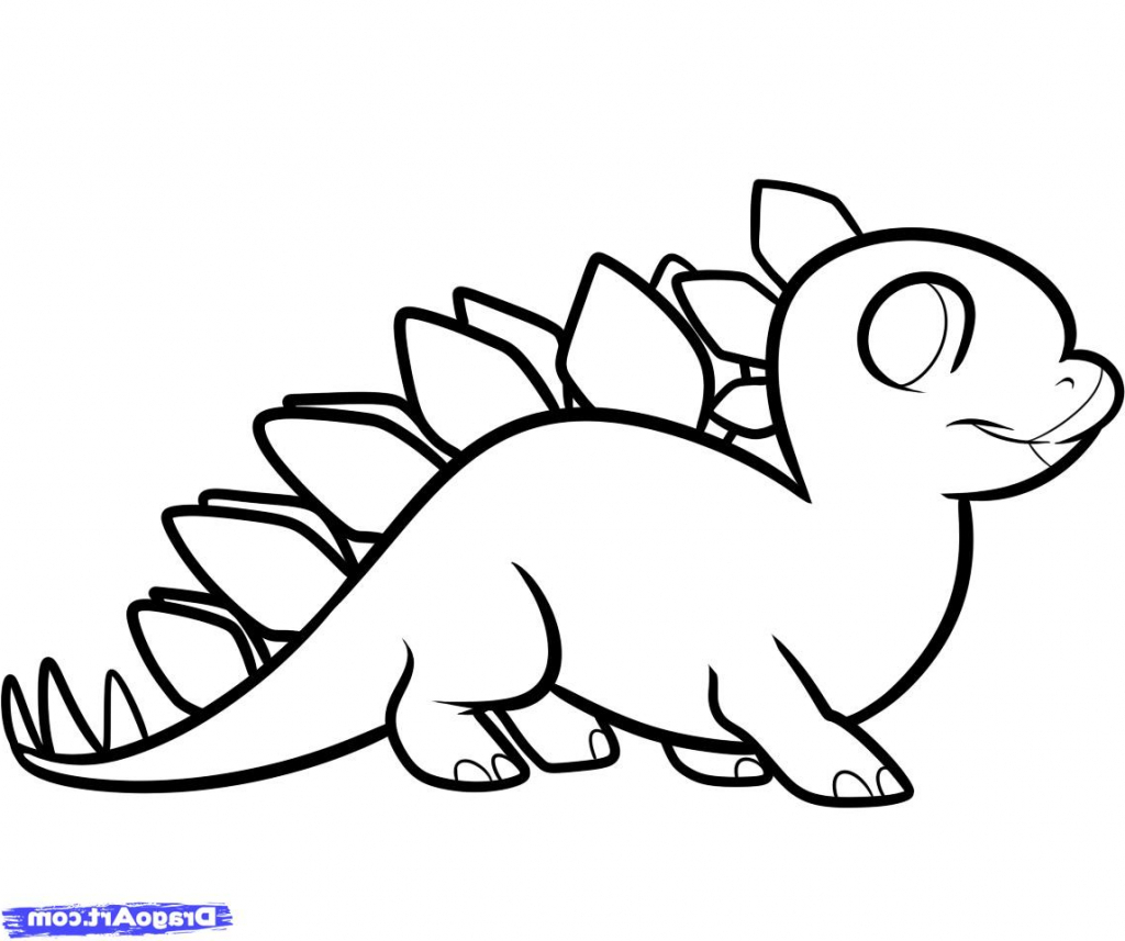 1024x857 Dino Drawing Stegosaurus For Free Download