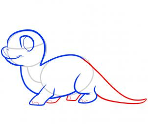 302x253 Draw A Stegosaurus For Kids, Step