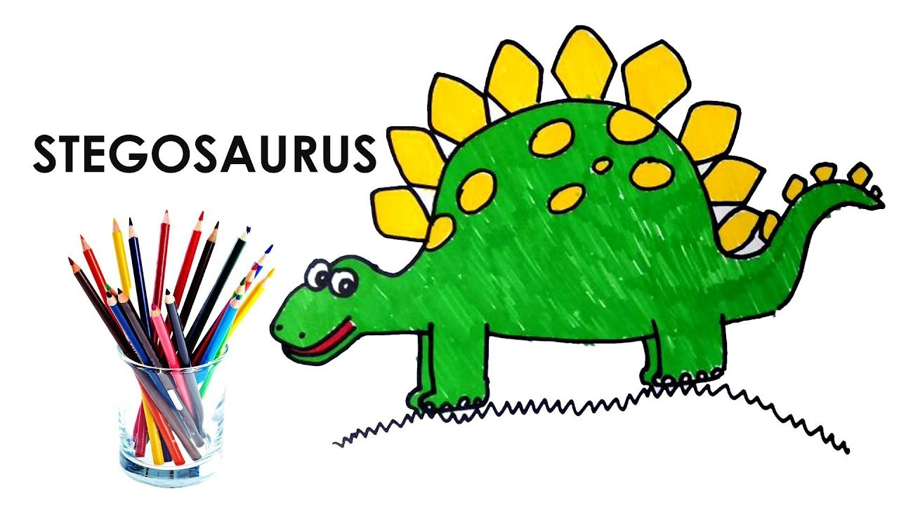 1280x720 How To Draw Stegosaurus Dinosaur Step