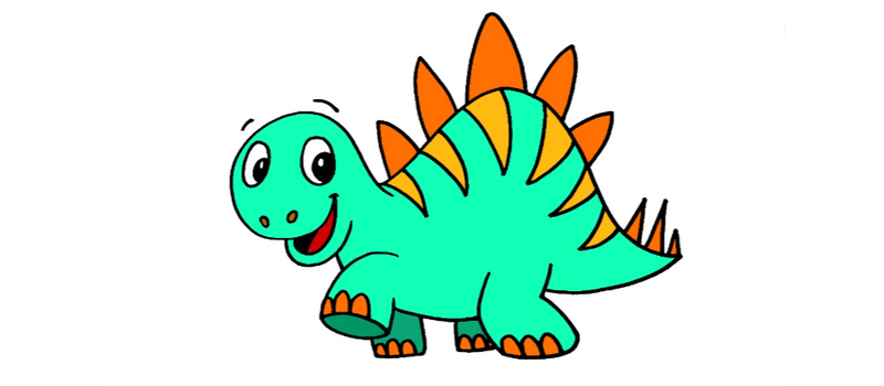 800x350 How To Draw A Cartoon Stegosaurus