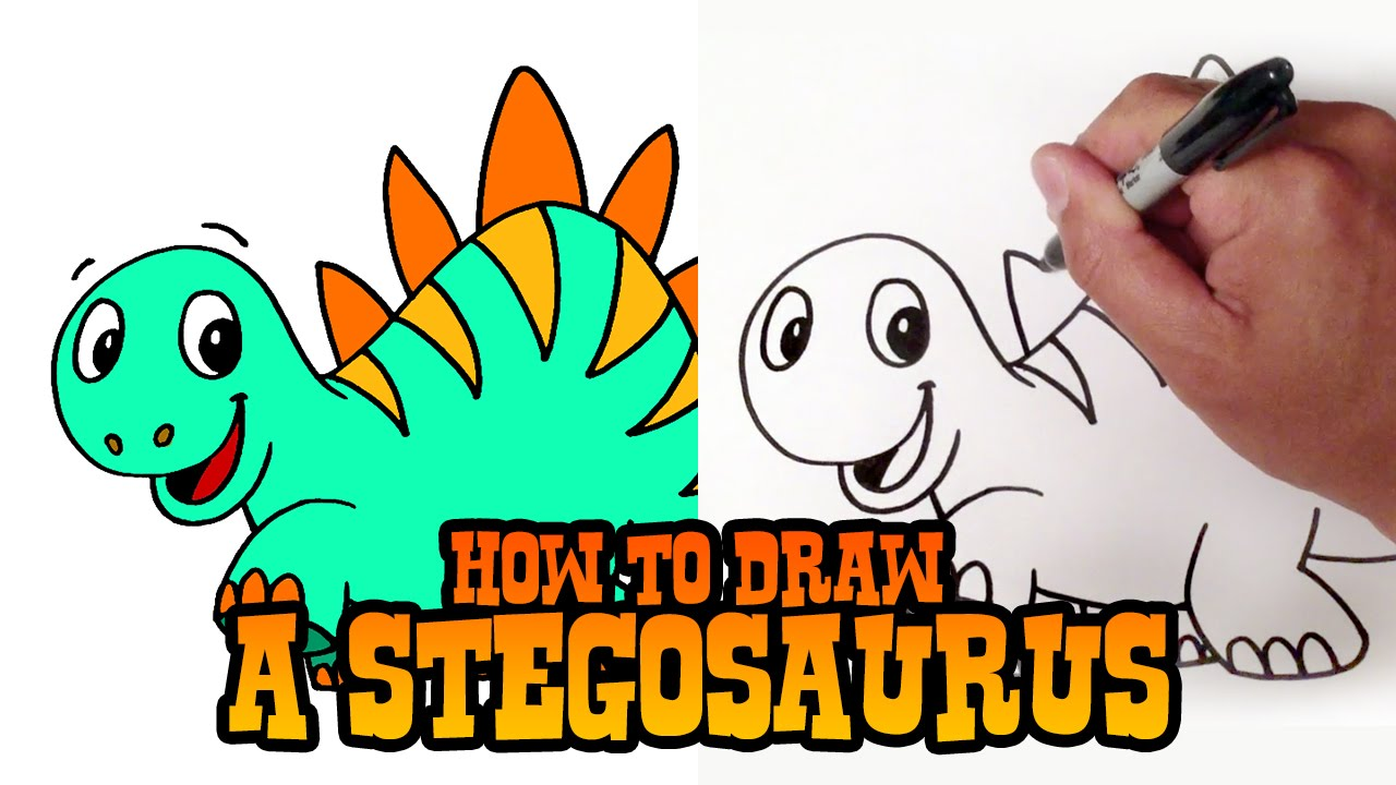 1280x720 How To Draw A Stegosaurus Dinosaur