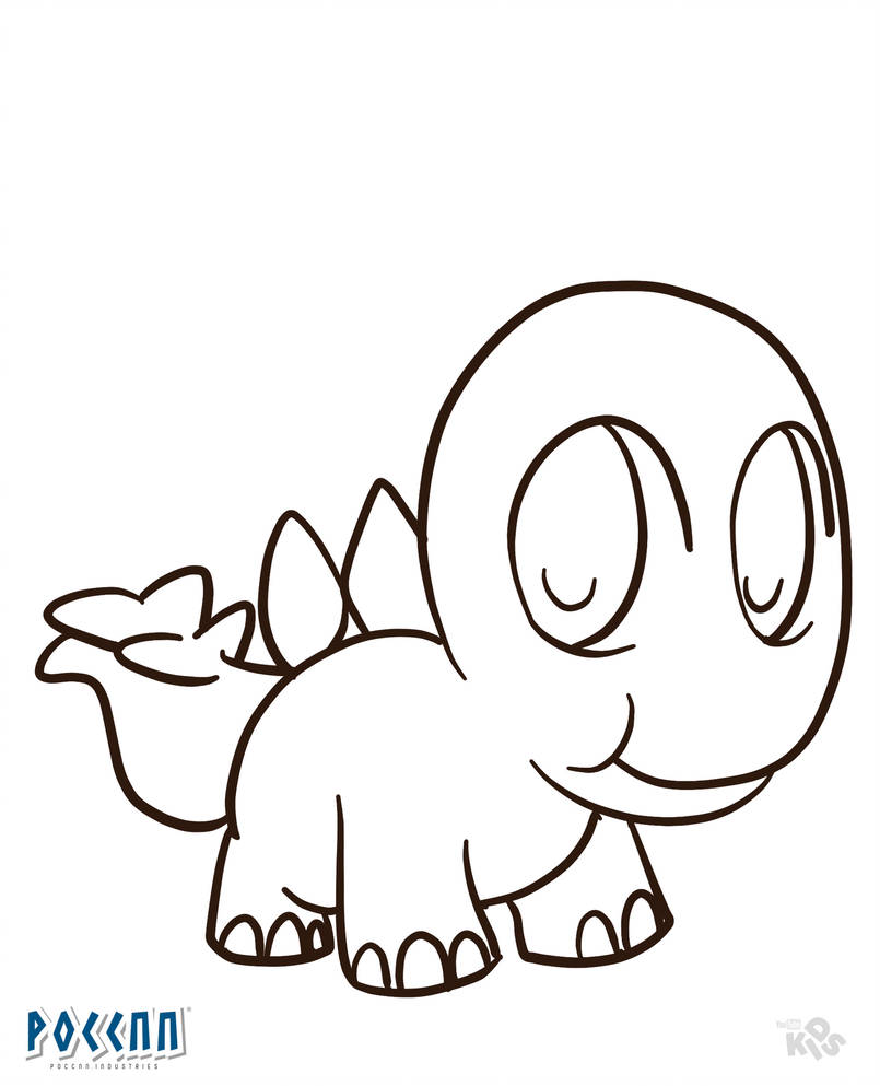 805x993 Stegosaurus Small To Color