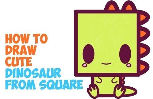 500x323 Draw Dinosaurs Easy How To Draw Cute Cartoon Baby Dinosaur