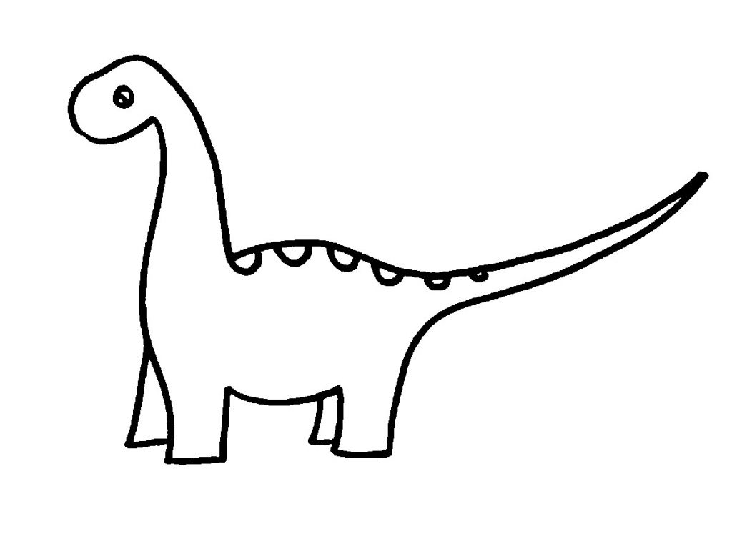 1024x768 Easy Drawings Of Dinosaurs Cute Dinosaur Drawing Easy Dinosaur