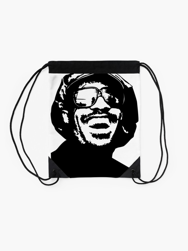 750x1000 stevie wonder fill your soul with wonder drawstring bag