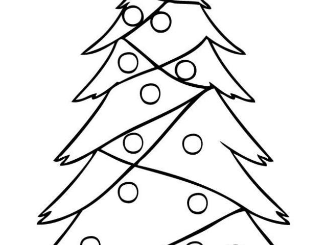 640x480 Drawn Christmas Tree Stick