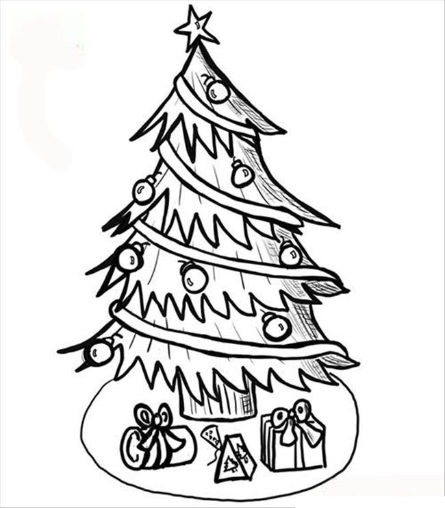 650x741 Drawn Christmas Tree Stick