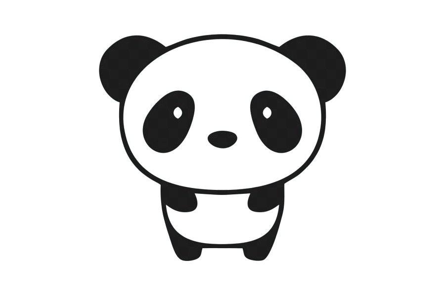 900x600 How To Draw A Chinese Panda Giant Panda Bumper Sticker Wall Decal