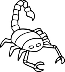 226x250 Line Drawing Of A Scorpion Sticker