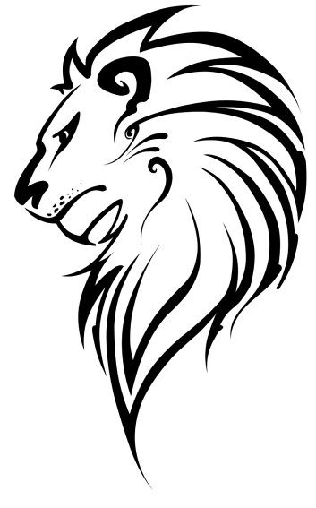 353x567 Lion Silhouettestencils Radium Stickers Lion Drawing, Lion
