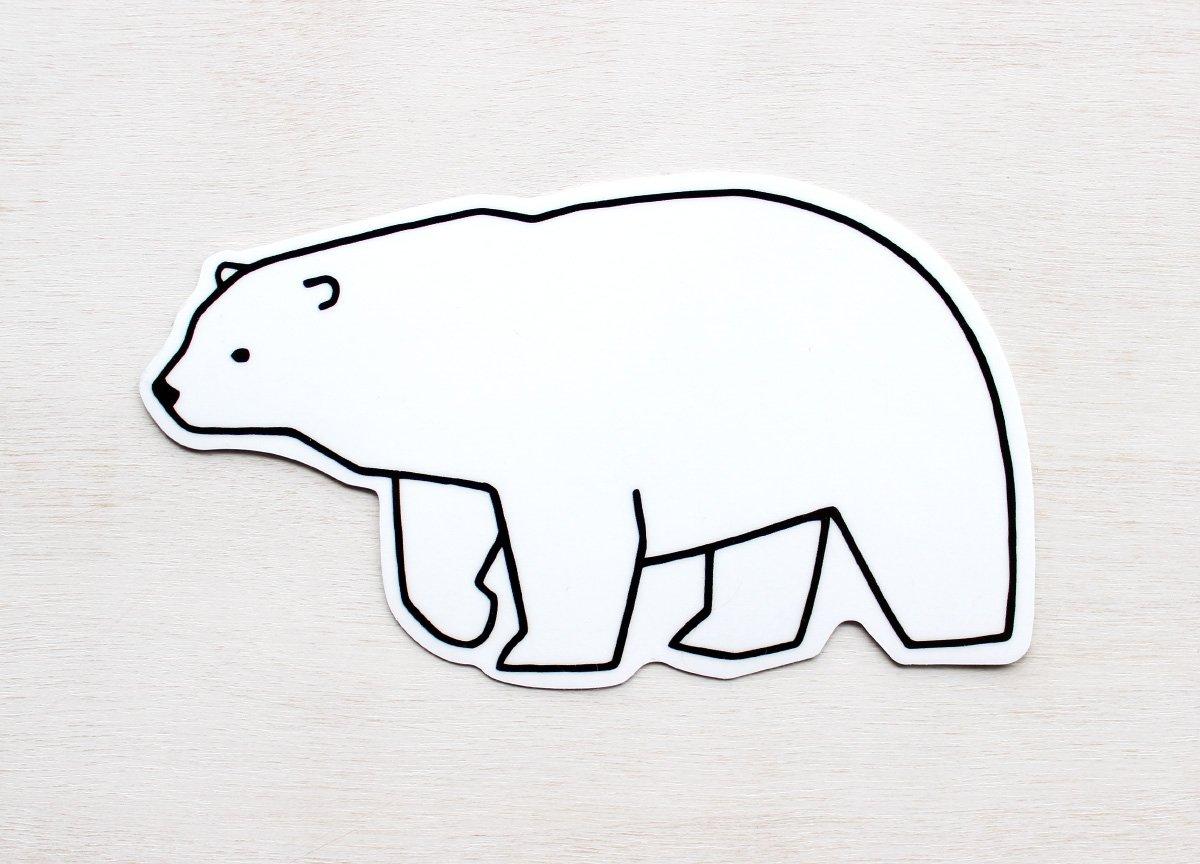 1200x864 Polar Bear Vinyl Art Sticker