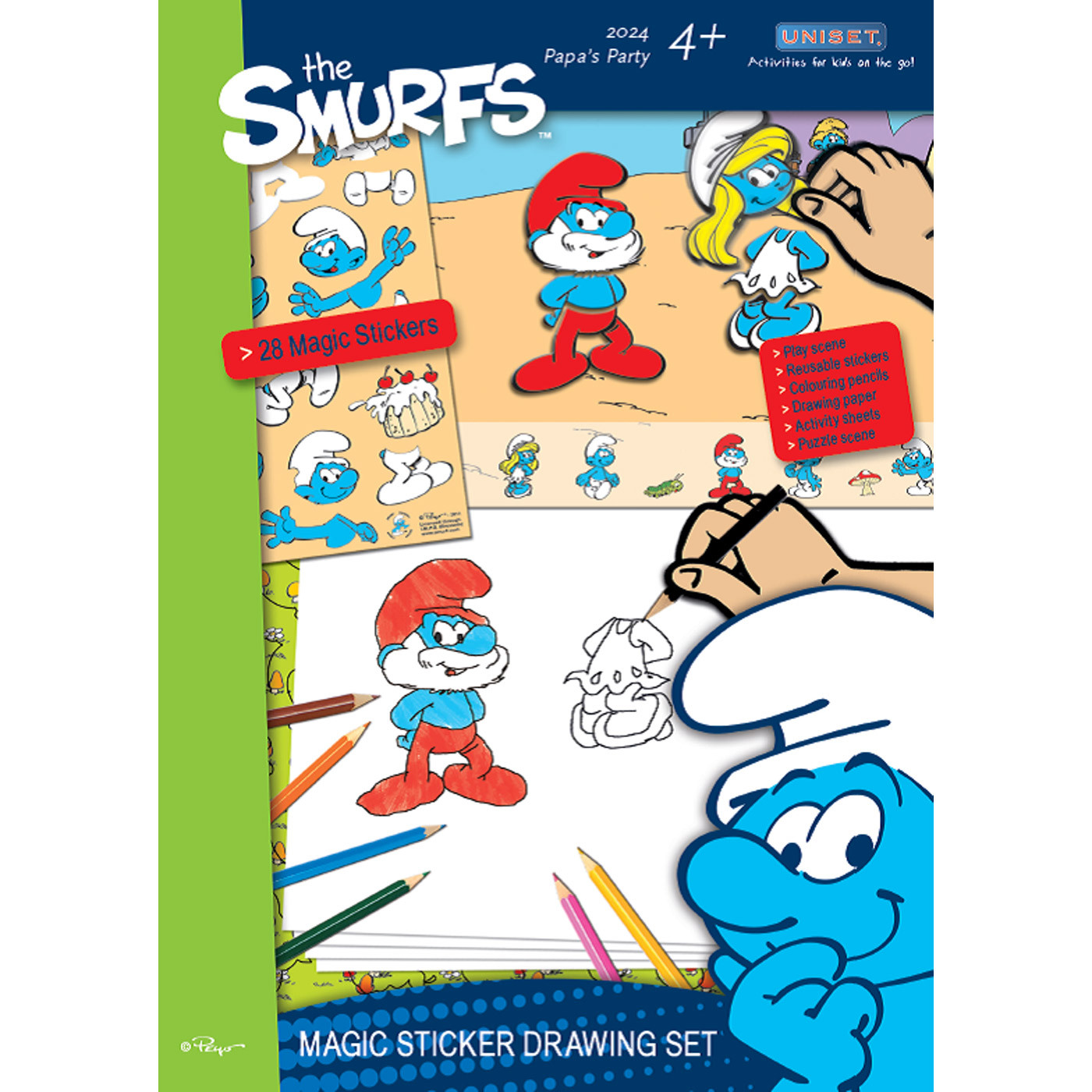 1400x1400 The Smurfs Magic Sticker Drawing Set Wind Designs