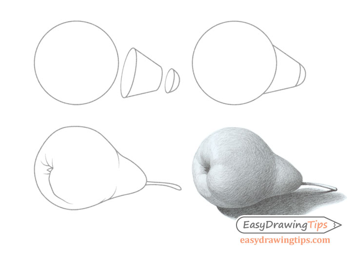 728x520 How To Draw A Realistic Pear Tutorial
