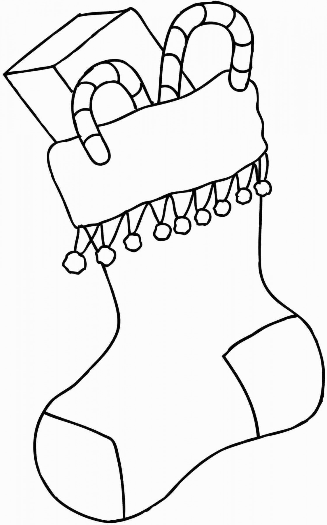 1122x1800 christmas stocking coloring pages pattern beautiful stocking