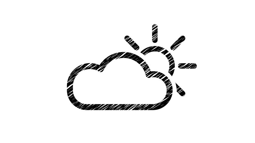 852x480 Animation Of Weather Icon In Stock Footage Video