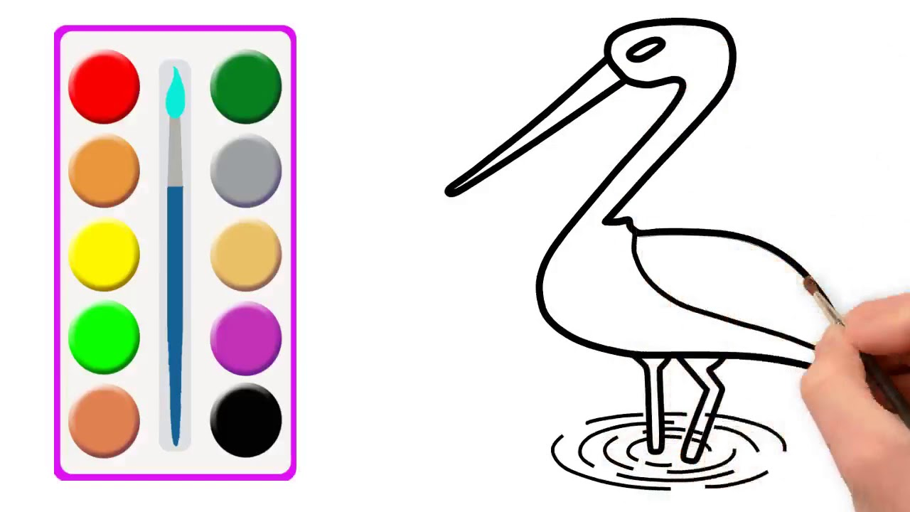 1280x720 how to draw a stork learn stork drawing for girls kids