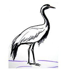 236x236 stork drawing art in drawings, stork