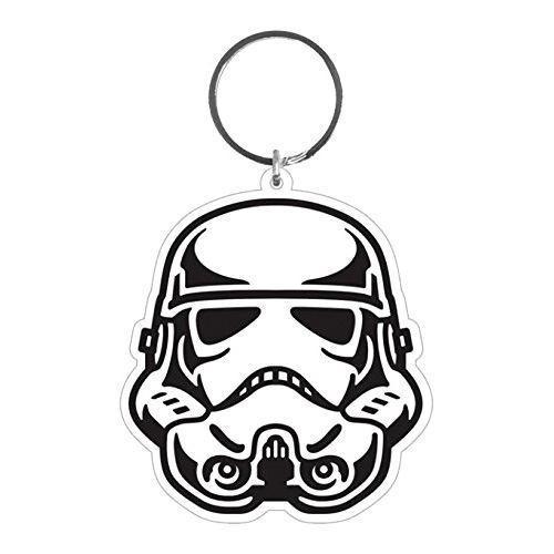500x500 star wars stormtrooper helmet rubber keyring retro styler