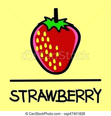 450x470 Cute Strawberry Drawing Vector Seamless Pattern With Strawberries