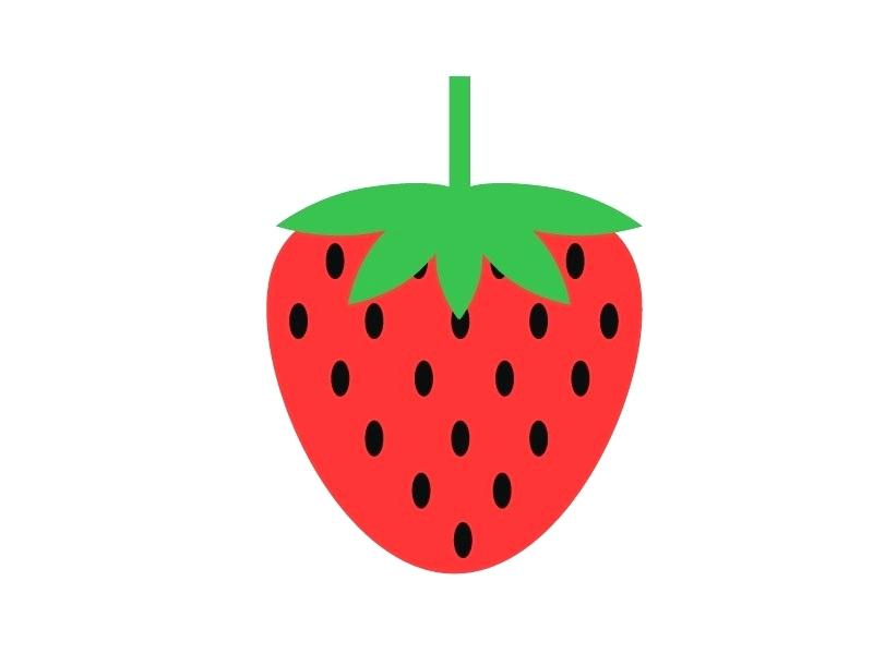 800x600 drawing strawberry strawberry half covered