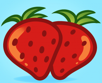350x285 How To Draw How To Draw Strawberries For Kids