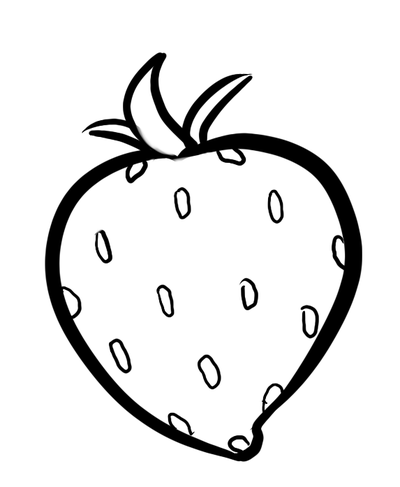 400x487 Strawberry, Drawing, Fruit, Transparent Png Image Clipart Free