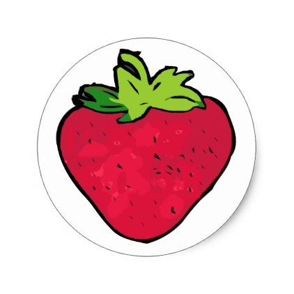 422x422 Strawberry Drawing Berry Fruit Health Healthy Food Classic Round
