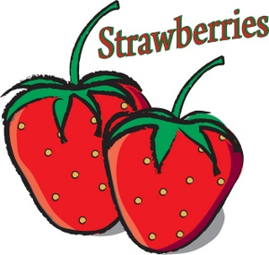 300x285 Strawberry Clipart Image Drawing Of Two Fresh Ripe Strawberries