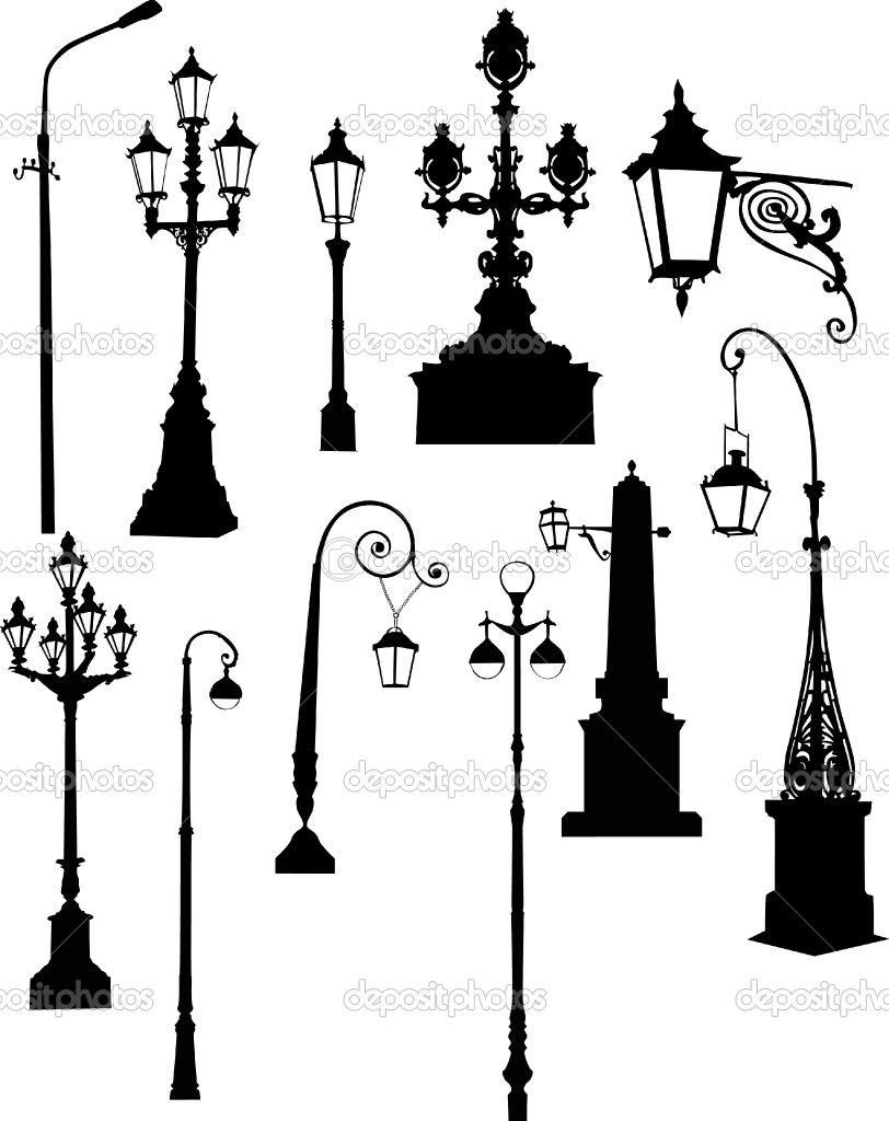 812x1024 street lamp silhouettes prop concept street l illustration