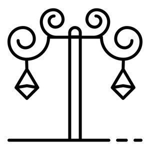 300x300 anvil street light pillar icon outline anvil street light pillar