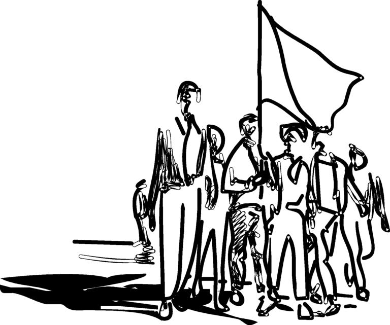768x641 Protest Drawing Demonstration For Free Download