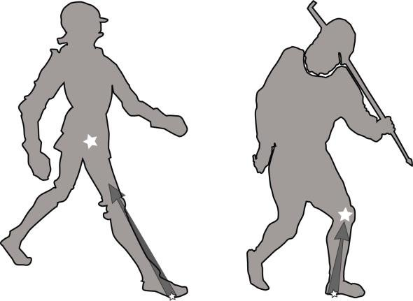 590x431 On The Left, Medieval Silhouette Showing Forefoot Strike Impact