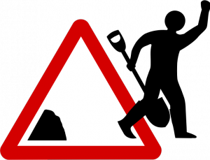 300x229 Vector Image Of Worker Leaving Traffic