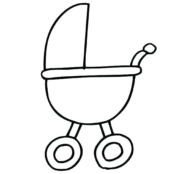 600x577 Baby Carriage Coloring