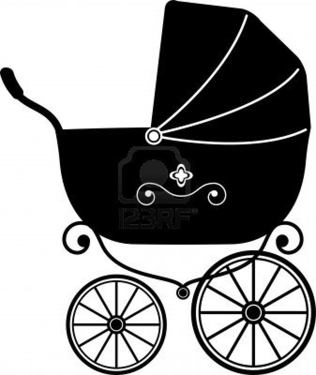 1011x1200 Baby Stroller Over White
