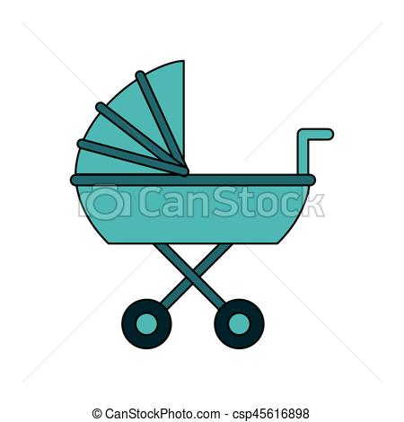 450x470 Baby Stroller Icon Image Vector Illustration Design Vectors