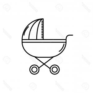 300x300 Photostock Vector Baby Stroller Vector Sketch Icon Isolated