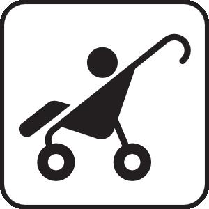 300x300 Stroller White Clip Art