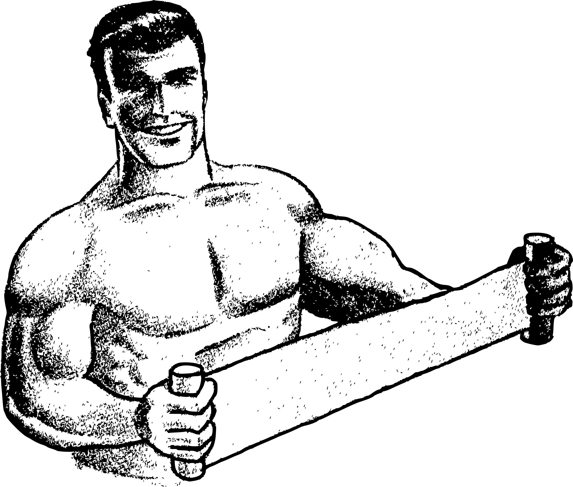 2400x2039 strong drawing strong man for free download