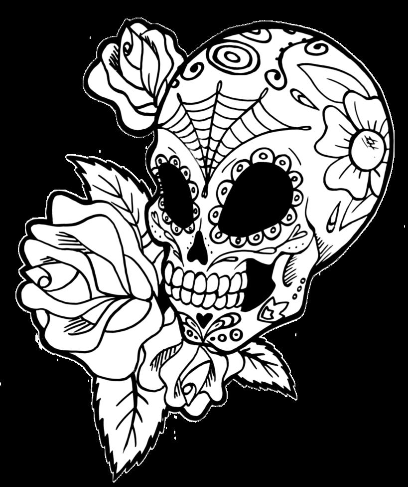 819x976 Drawing Detail Sugar Skull Transparent Png Clipart Free Download