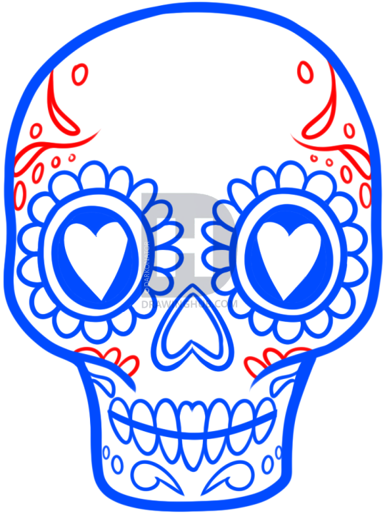 539x720 How To Draw A Sugar Skull Easy, Step