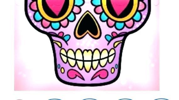 570x320 Simple Sugar Skull Drawing Sugar Skull Drawings Simple Images