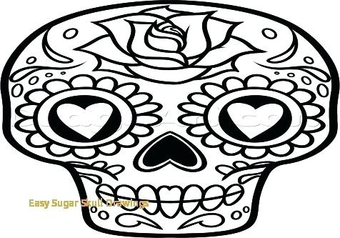 476x333 skull drawings easy simple skull drawing gallery sugar skull easy