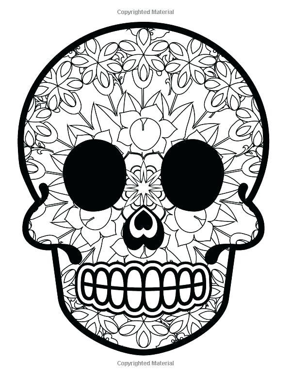 600x776 Template Cool Skull Design Coloring Nautical Drawing Sugar Skull
