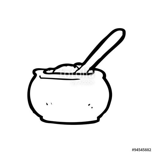 500x500 Line Drawing Cartoon Sugar Bowl Stock Image And Royalty Free