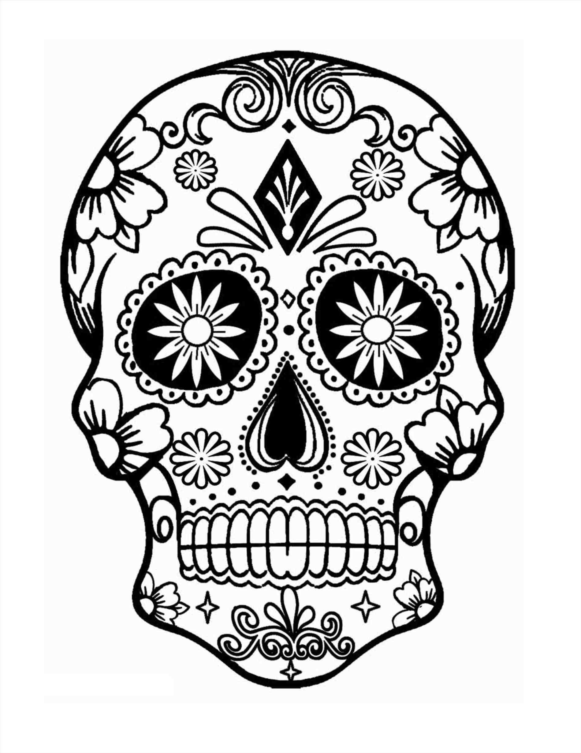 1899x2459 Ariel Drawing Sugar Skull For Free Download