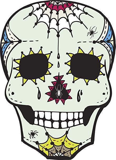 442x606 Floral Dia De Los Muertos Sugar Skull Art Drawing