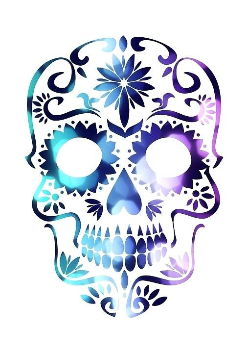 507x720 colorful sugar skull sugar skull black and white easy colorful