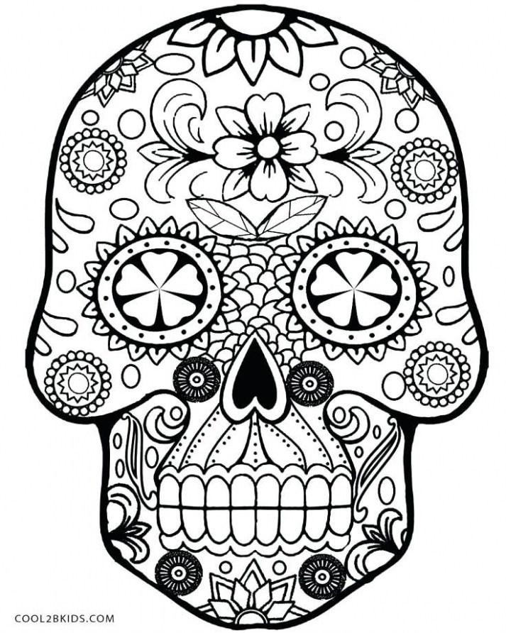 713x892 sugar skull coloring great sugar skulls coloring pages sugar